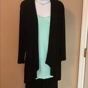 Chico's size 2 black jacket / cardigan travelers